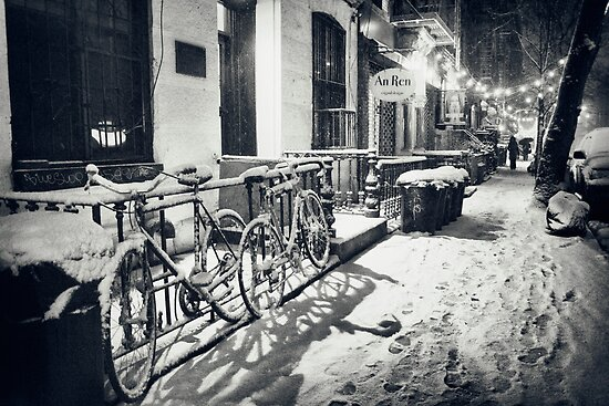 Winter Night - East Village - New York City by Vivienne Gucwa