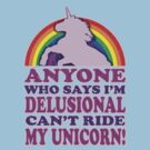 Funny Delusional Unicorn (Vintage Distressed Design) by robotface