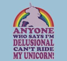 Funny Delusional Unicorn (Vintage Distressed Design) T-Shirt