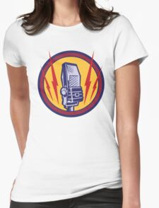 Vintage Microphone Womens Fitted T-Shirt