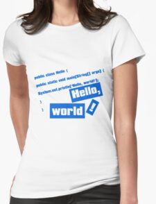 Hello, World! Womens Fitted T-Shirt