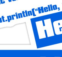Hello, World! Sticker