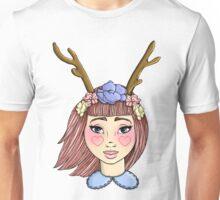 Deer Girl - Red Unisex T-Shirt