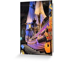 """The Vasa""""  ( 4 ) A Scale Model Greeting Card"""