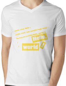 Hello, World! Mens V-Neck T-Shirt