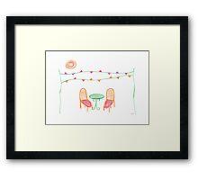 Come to the party Framed Print