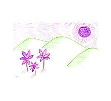 Beneath the purple sun Photographic Print