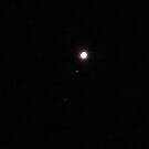 Jupiter and Two Moons by virginian