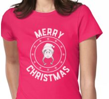 Emilie's Merry Christmas Logo Womens Fitted T-Shirt