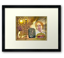 Apollo, god of Music, Poetry, Sun, Light, Medicine and Knowledge (month of July) Framed Print