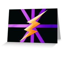 Lightning Stripes Greeting Card