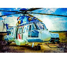 H225 Helicopter Photographic Print