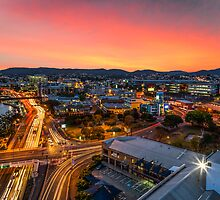 Sunset Over Brisbane by TimothyAJ