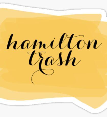 Hamilton Trash - Watercolor Splash Sticker