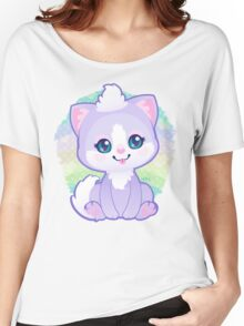 Purple Kitty Women's Relaxed Fit T-Shirt