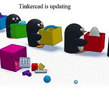 Tinkercad is updating screen with text by LokiLaufeysen
