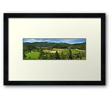 Wine Country Panorama Framed Print