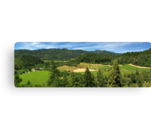 Wine Country Panorama Canvas Print