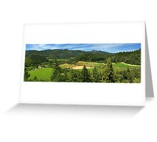 Wine Country Panorama Greeting Card