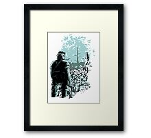 Big Boss (cool colours) Framed Print