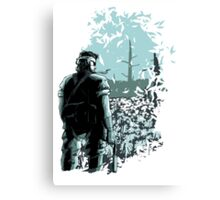 Big Boss (cool colours) Canvas Print