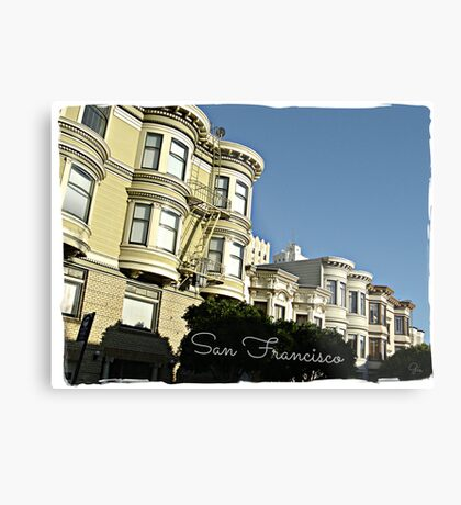 """ San Francisco "" Metal Print"