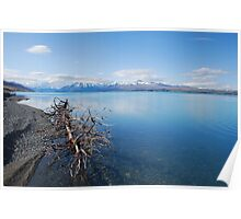 Glacial Lake near Mt Cook, NZ Poster