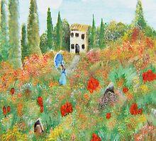 My Field Of Poppies by SherryAllenArt
