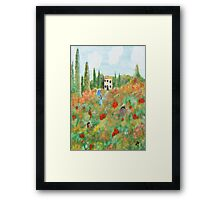 My Field Of Poppies Framed Print