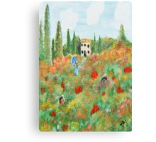 My Field Of Poppies Canvas Print