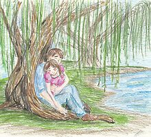 Under a Willow Tree by akinmytua