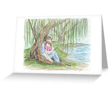 Under a Willow Tree Greeting Card