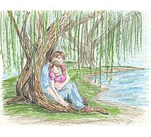 Under a Willow Tree Photographic Print