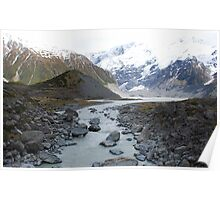 Glacial Lake, Mt Cook, NZ Poster