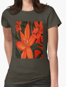 Tiger Lily Trio Womens Fitted T-Shirt