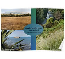 North Canterbury postcard style Poster