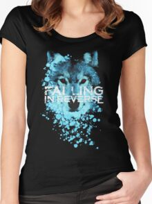 Falling in reverse - Raised by wolves Women's Fitted Scoop T-Shirt