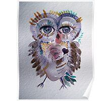 Chantilly Owl Poster
