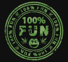 100% Fun Marijuana Stamp by Andrei Verner