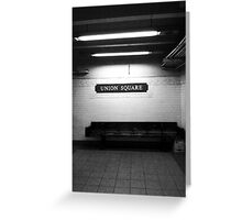 Union Square Subway Stop Greeting Card