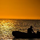 Fisherman silhouette  by MitzPicz