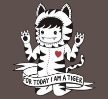 For today I am a tiger One Piece - Short Sleeve