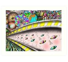 Eye Ball Composition Art Print