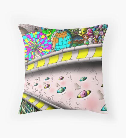 Eye Ball Composition Throw Pillow
