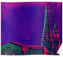 DayGlo-Memphis-Steeples Poster