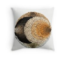 Unusual Mandala in Earth Colors Throw Pillow