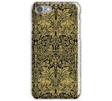 William Morris Rabbit and Bird Gold and Black iPhone Case/Skin