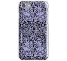 William Morris Rabbit and Bird Blue and Black iPhone Case/Skin