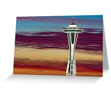 Glorious Space Needle Sunset Greeting Card