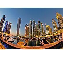 Dubai Marina night Photographic Print